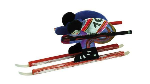 Bobslee of skiër