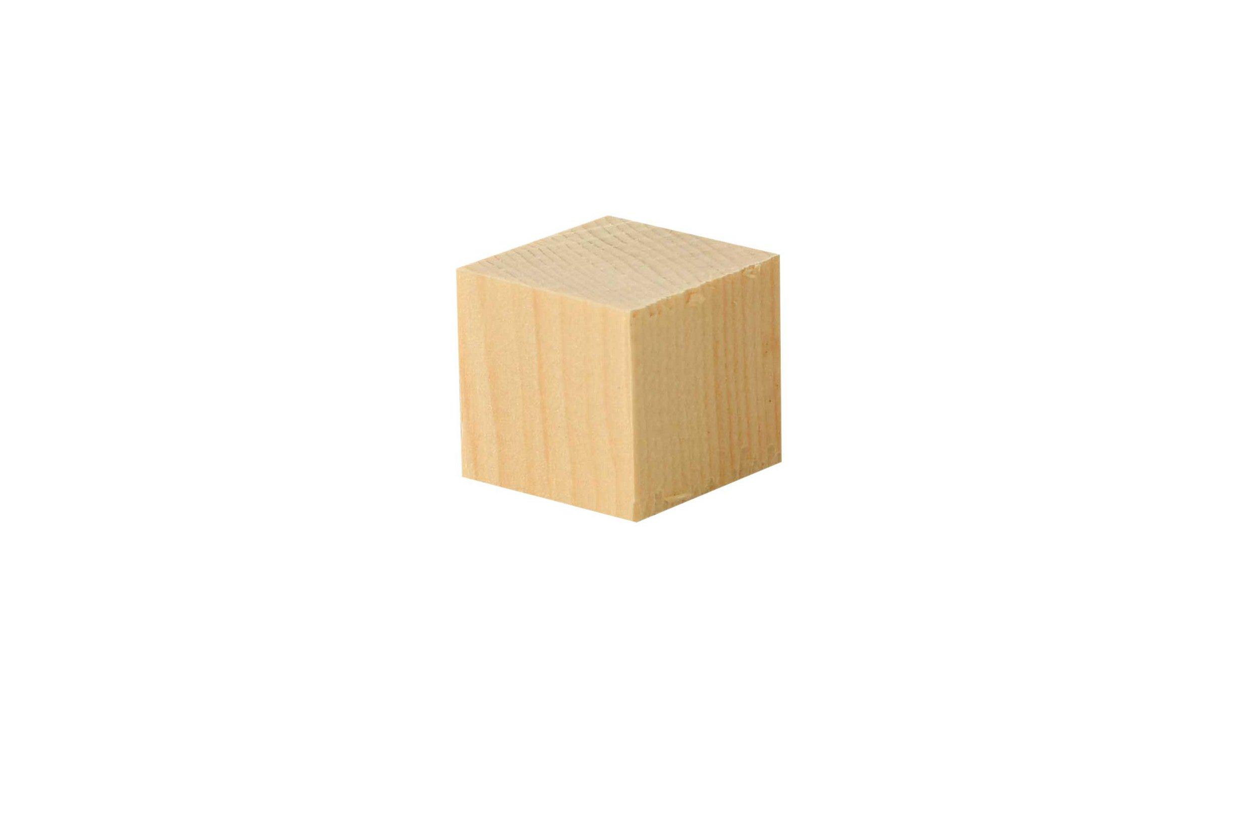 Houten blokjes alpenden, 50 st., 2x2x2 cm