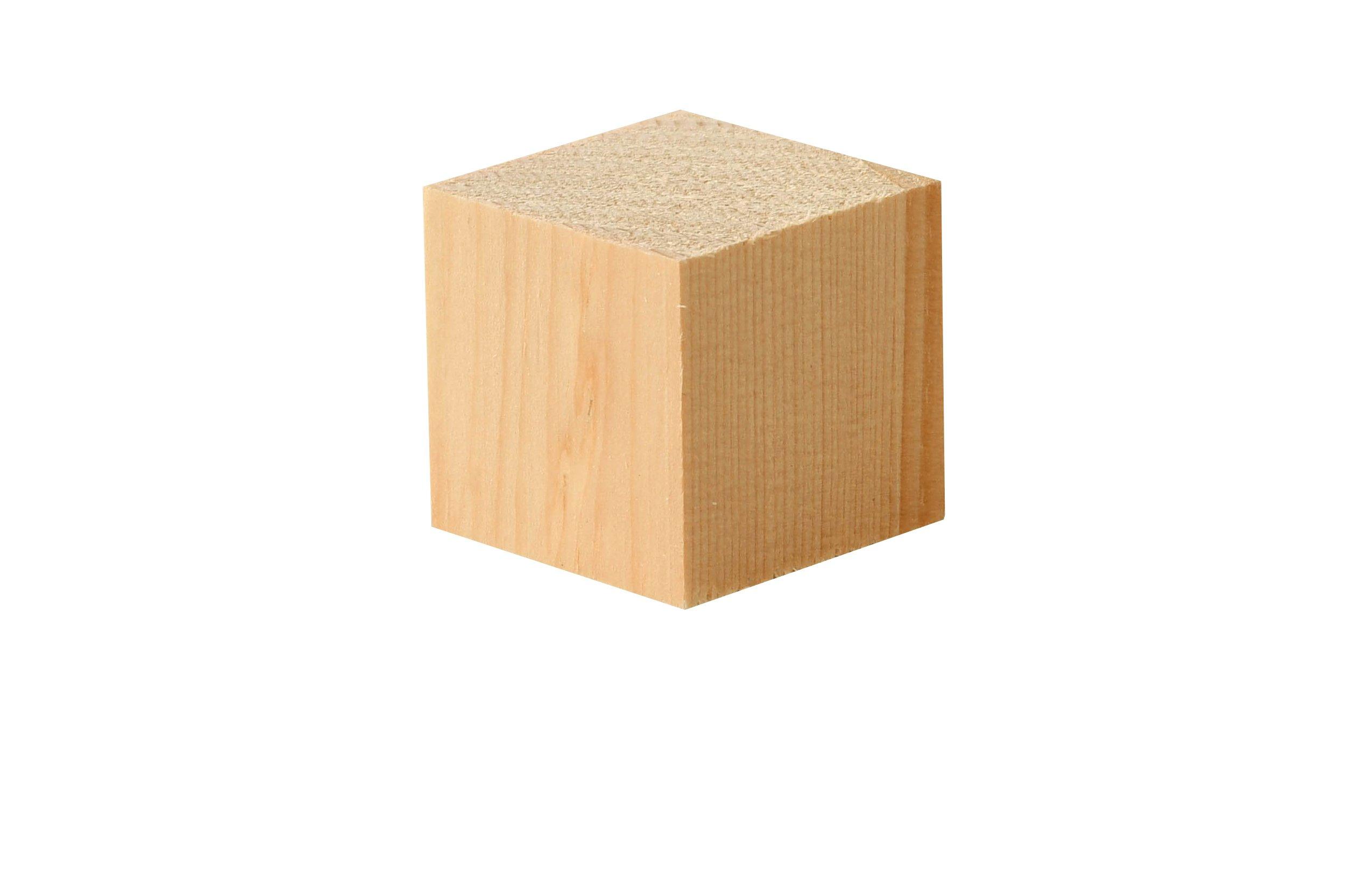 Houten blokjes alpenden, 50 st., 3x3x3 cm