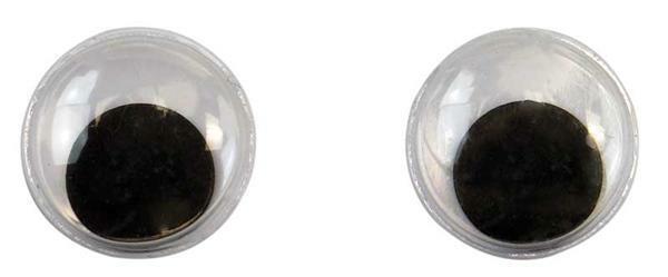 Yeux mobiles ronds - 50 pces, Ø 15 mm