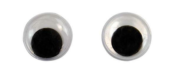 Yeux mobiles ronds - 50 pces, Ø 12 mm