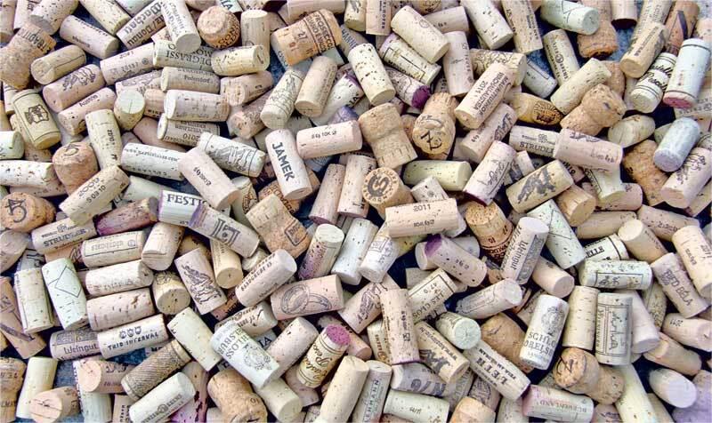 Wijnkurken - knutselkurken, 1 kg
