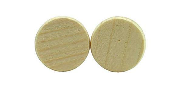 Houten schijven - 50 st./pak, Ø 30 mm