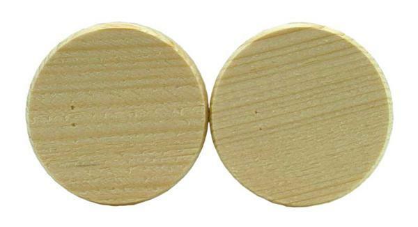 Houten schijven - 50 st./pak, Ø 40 mm