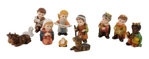 Kinder-kribbefiguren - 9 cm, 11-delig