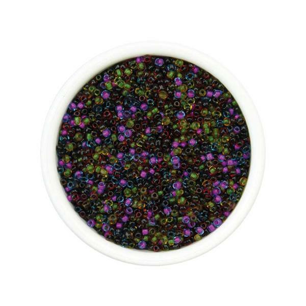 Rocailles Ø 1,5 - 2,6 mm -  100 g, mauve / noir