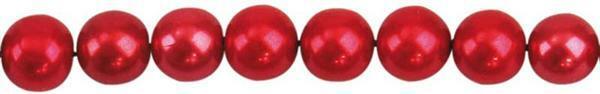 Perles de verre cirées - Ø 4 mm, 120 pces, rouge