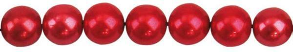 Glaswachsperle Ø 6 mm, 100 Stk. - rot