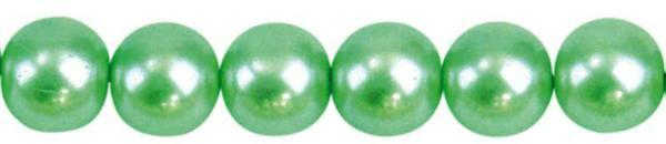 Glaswachsperle Ø 8 mm, 50 Stk. - hellgrün