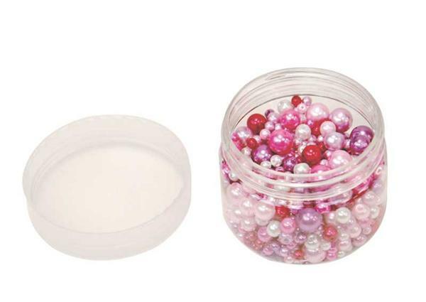 Perles de verre cirées - ton sur ton, rouge