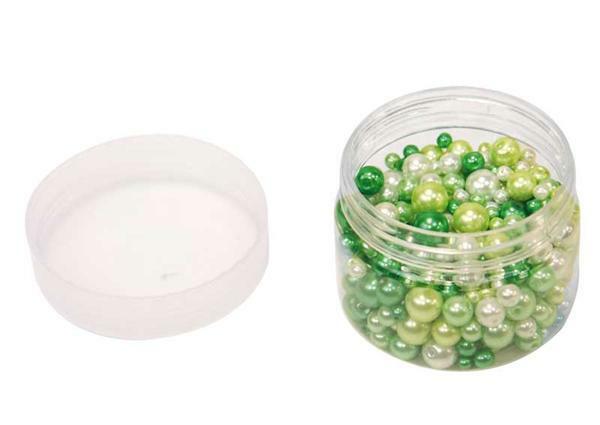 Ton in Ton Glaswachsperlen, grün
