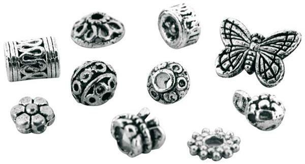 Antik-Metallic-Perlen-Mix, groß