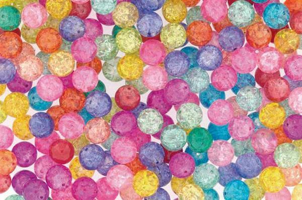 Glasperlenmischung - 100 g, Ø 8 mm, Crash Perlen