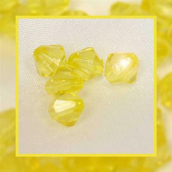 Acrylkralen - Ø 4 mm, geel