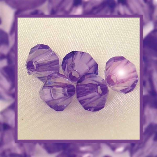 Acrylkralen - Ø 4 mm, lila