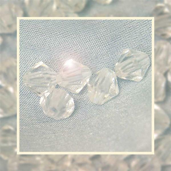 Perles acryliques - Ø 6 mm, cristal