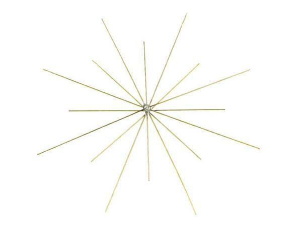 Fil de fer étoile pour perles - 5 pces, Ø 8 + 10cm