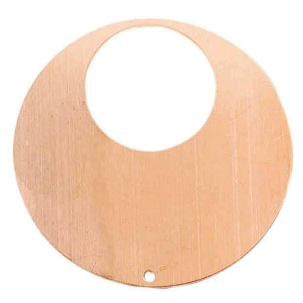 Kupferanhänger, Kreis mit Ausschnitt - 1 Bohrung