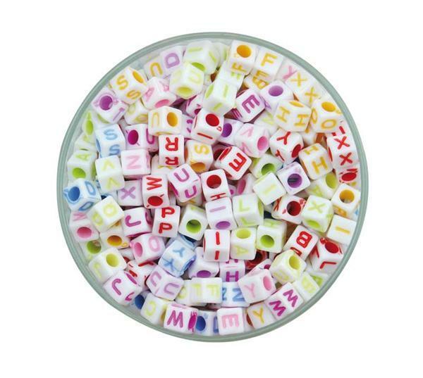 Kunststoffperlen Buchstaben, 100 g