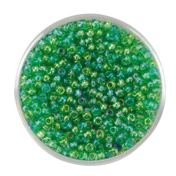 Rocailles irisierend Ø 2,6 mm, apfel regenbogen