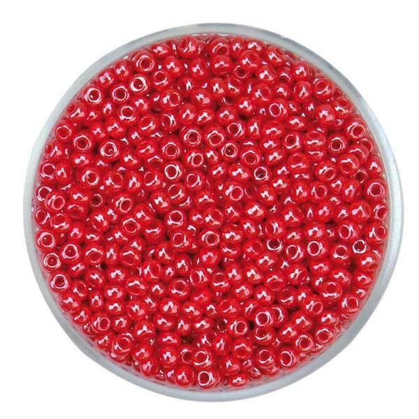 Rocailles opales - Ø 2,6 mm, rouge