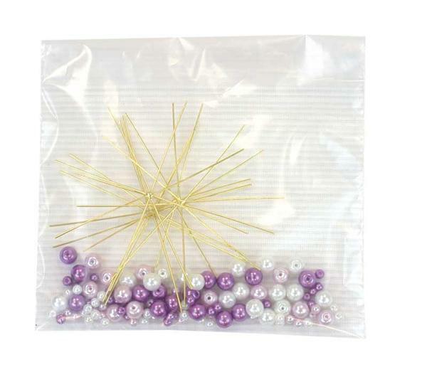 Perlensterne Bastelset, violett