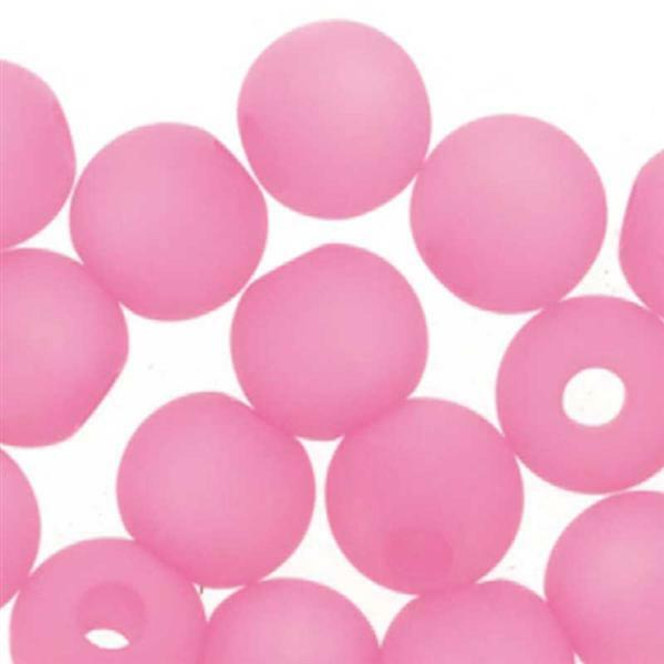 Glasperlen Polaris - 6 mm, pink