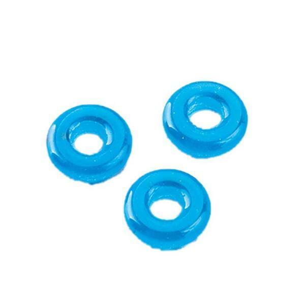 Anneau perles à gros trou - 10 x 3 mm, bleu clair