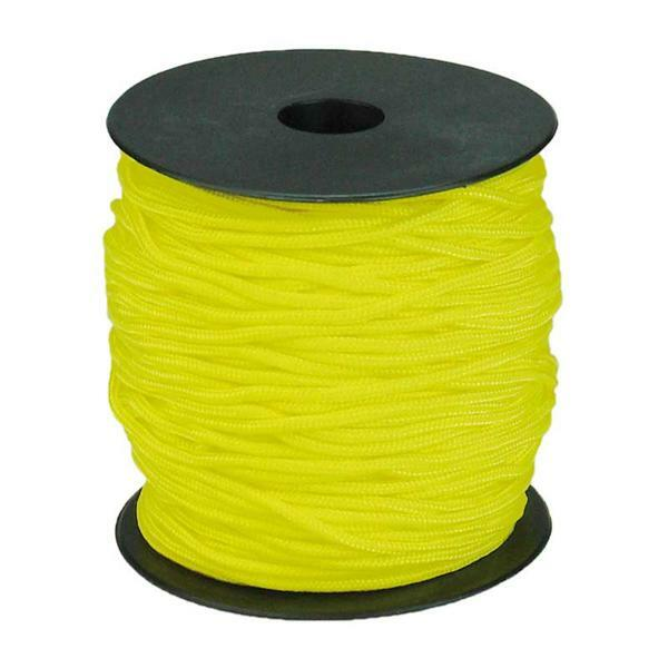 Paracord 2 mm - 50 m, geel