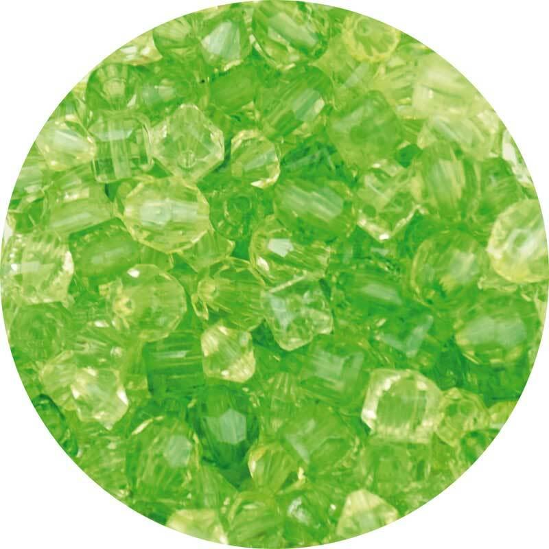 Acrylperlen Mix - ca. 400 Stk., grün