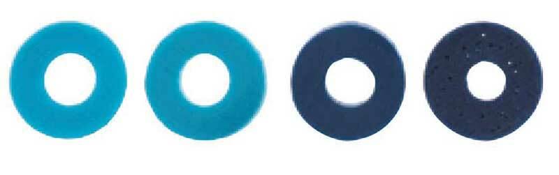 Mélange perles Katsuki - 60 pces, bleu