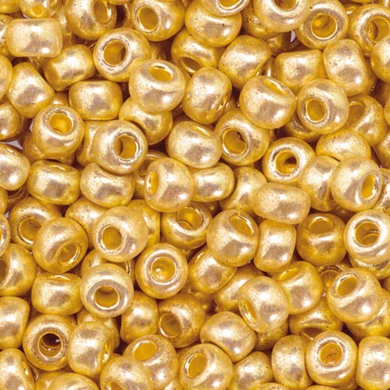 Rocailles metallic Ø 3,5 mm, altgold