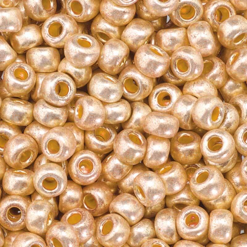 Rocailles metallic Ø 3,5 mm, kupfer