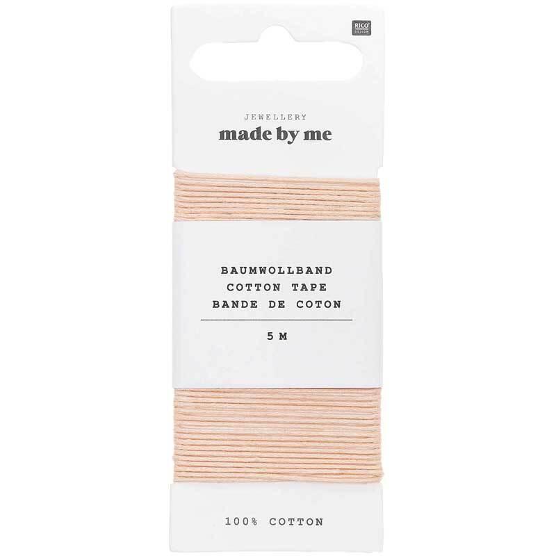 Baumwollband Ø 1 mm - 5 m, puder