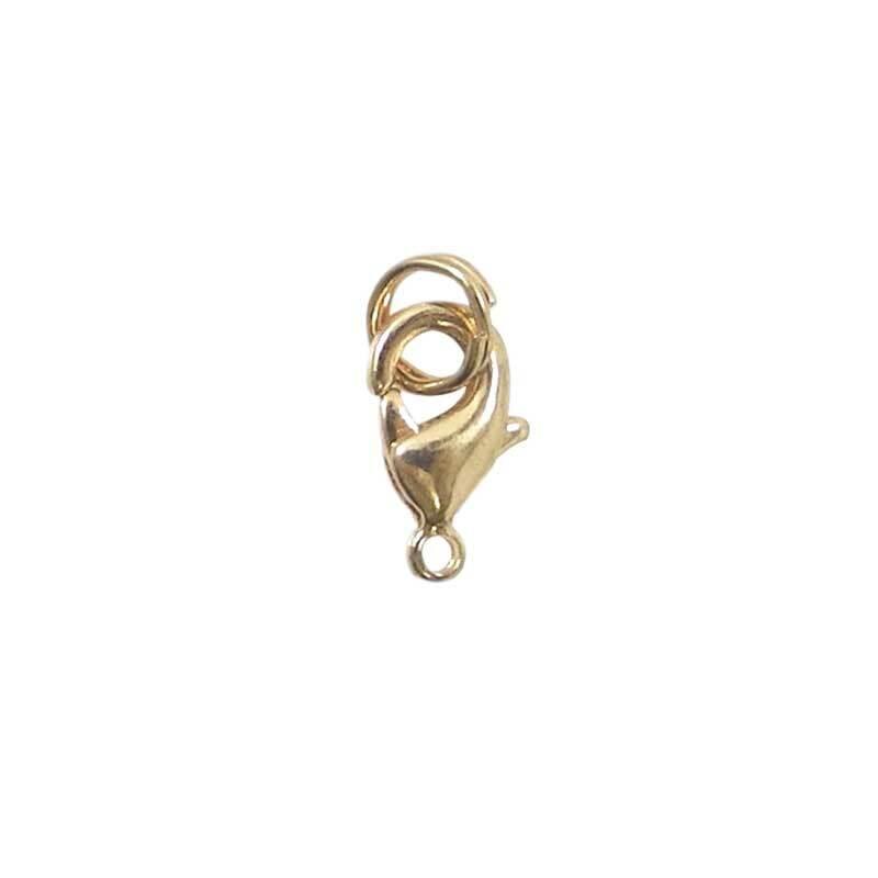 Karabijnsluiting - 4 st./pak, goudkleurig
