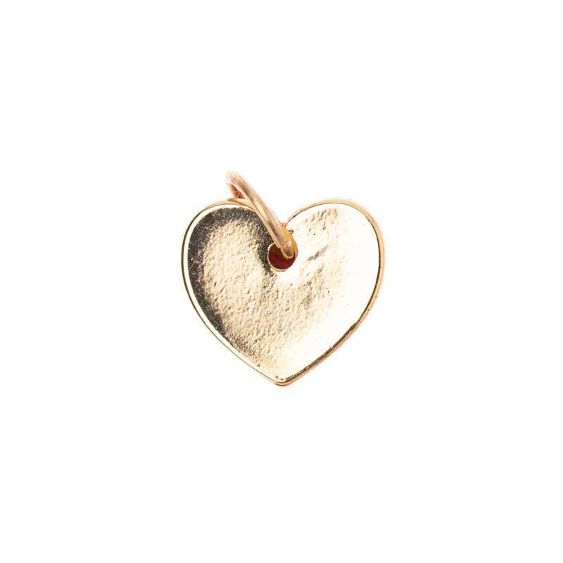 Hanger hart - 10 mm, goudkleurig