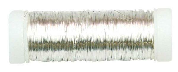 Häkeldraht metallic - Ø 0,25 mm, silber