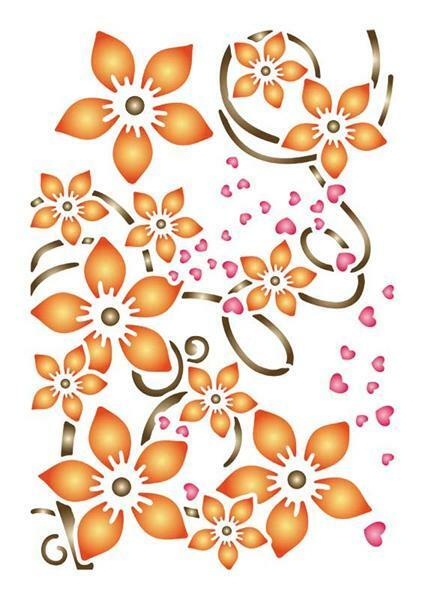 Pochoir - A4, Fleurs