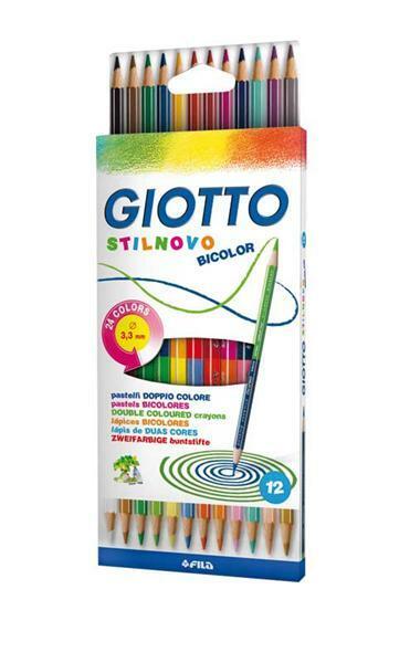 Giotto Farbstifte Stilnovo - Bicolour, 12 Stk.
