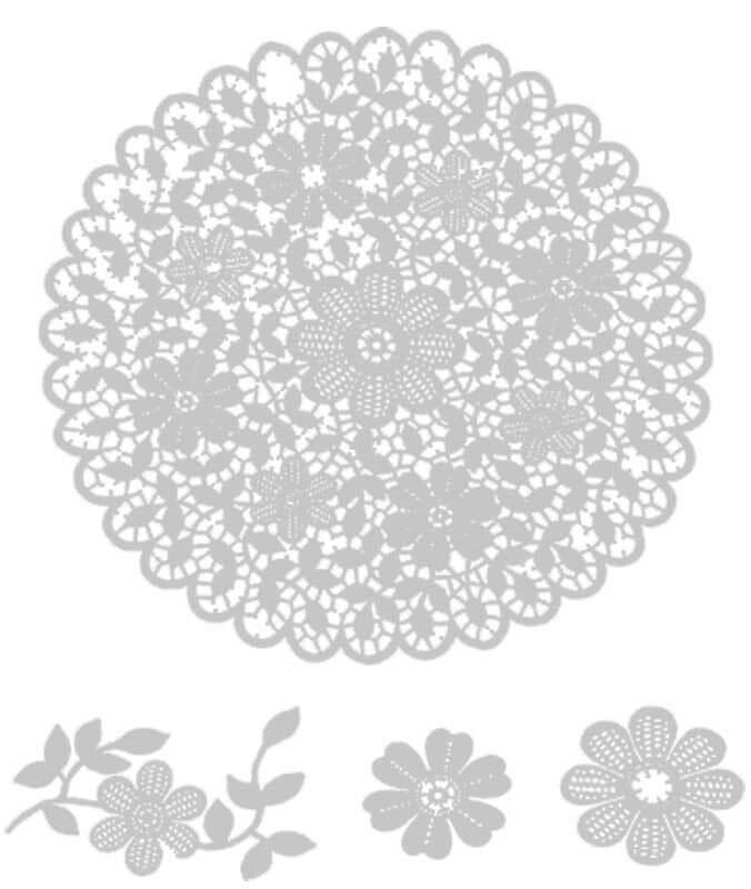 Sjabloon - 22 x 28 cm, zeefdruk bloempatroon