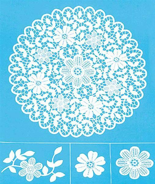 Pochoir - 22 x 28 cm, sérigraphie motif fleurs