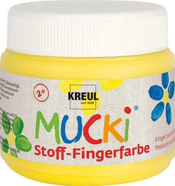 MUCKI Peinture aux doigts Textile - 150 ml, jaune