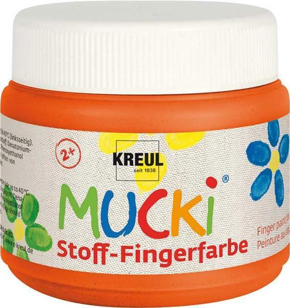 MUCKI Peinture aux doigts Textile - 150 ml orange