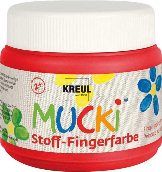 MUCKI textiel-vingerverf - 150 ml, rood