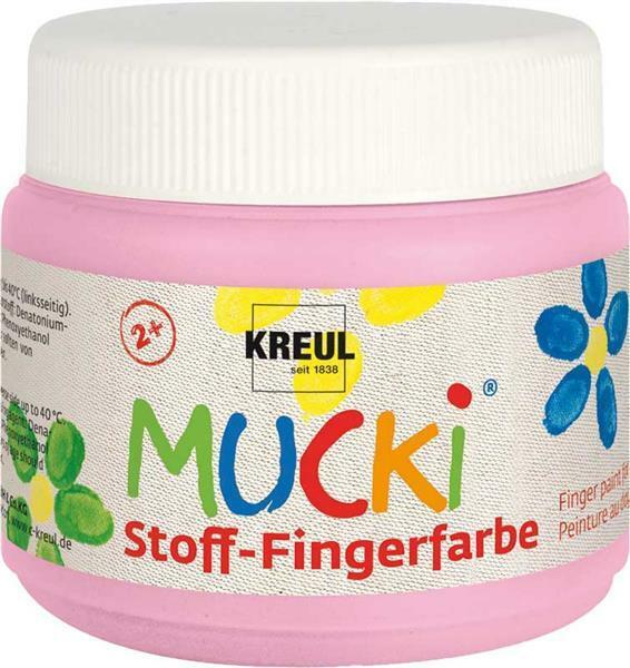 MUCKI Peinture aux doigts Textile - 150 ml, rose