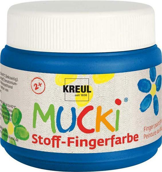 MUCKI Stoff-Fingerfarben - 150 ml, blau