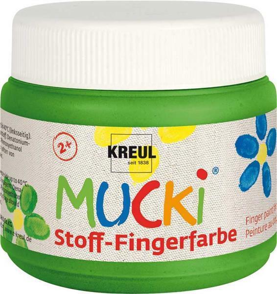 MUCKI Stoff-Fingerfarben - 150 ml, grün