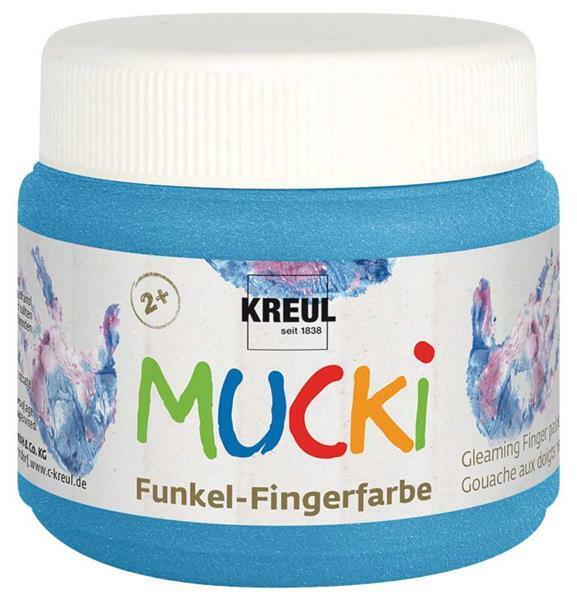 MUCKI Funkelfingerfarben - 150 ml, diamantenblau