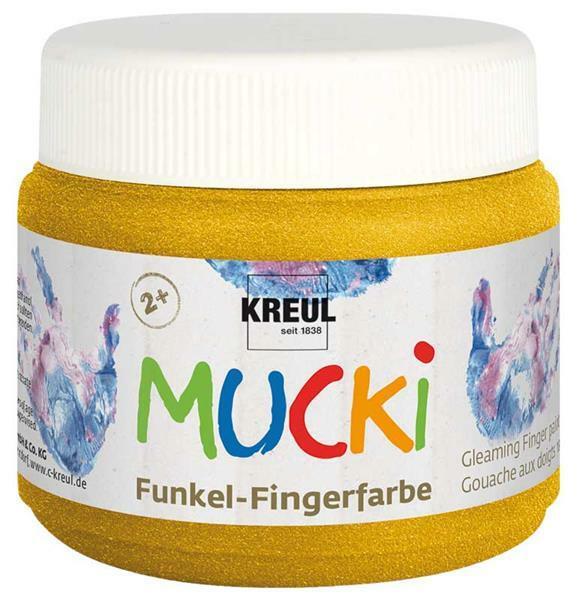 MUCKI Funkelfingerfarben - 150 ml, goldschatz