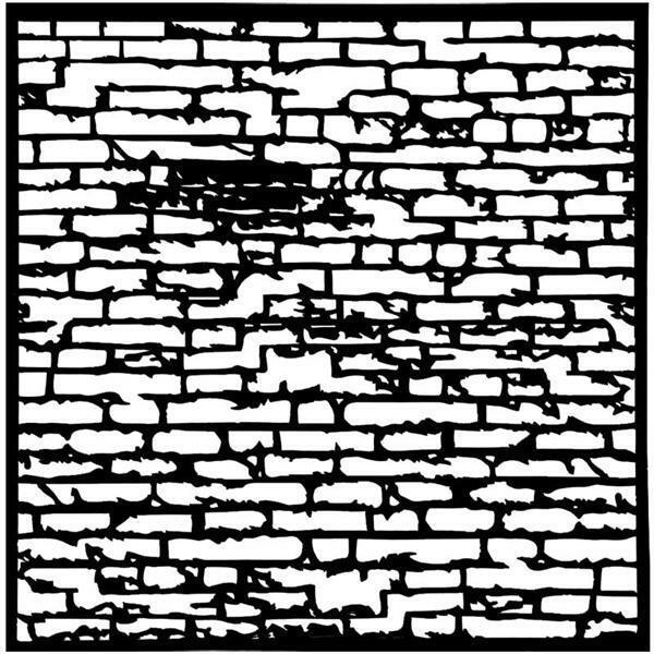 Schablone - 30 x 30 cm, Backsteinmauer